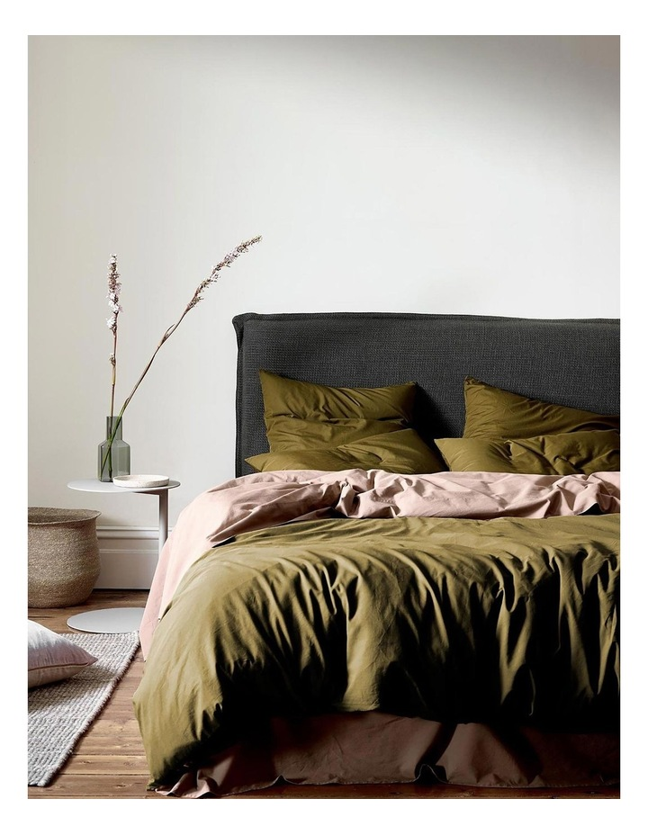 Halo Organic Cotton Quilt Cover in Khaki image 1
