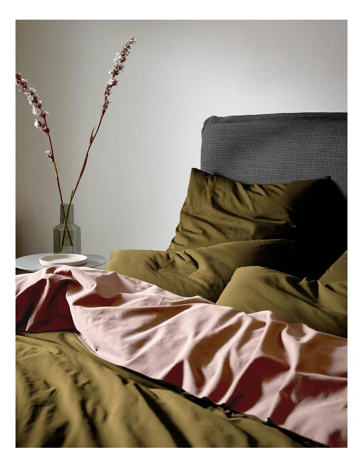 Halo Organic Cotton Quilt Cover in Khaki image 2