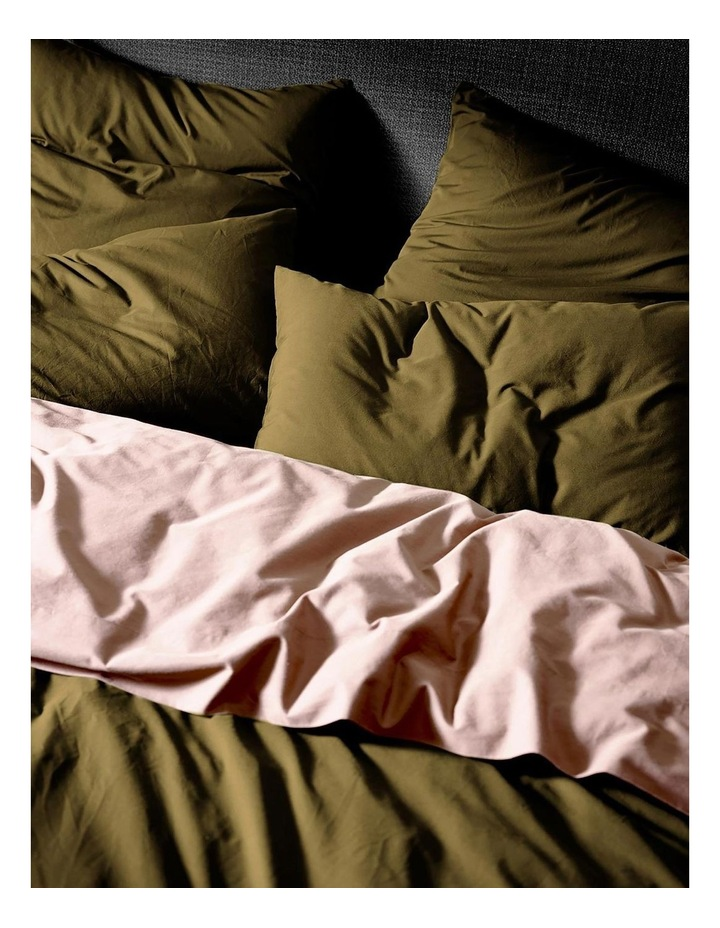 Halo Organic Cotton Quilt Cover in Khaki image 3