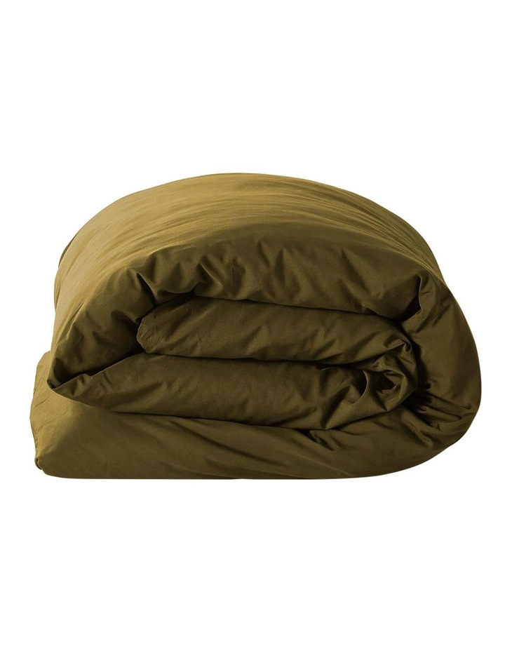 Halo Organic Cotton Quilt Cover in Khaki image 4