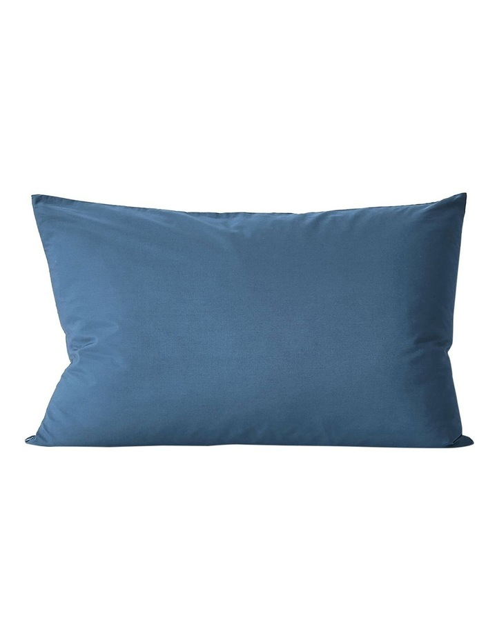 Halo Organic Cotton Quilt Cover in Bijou Blue image 2