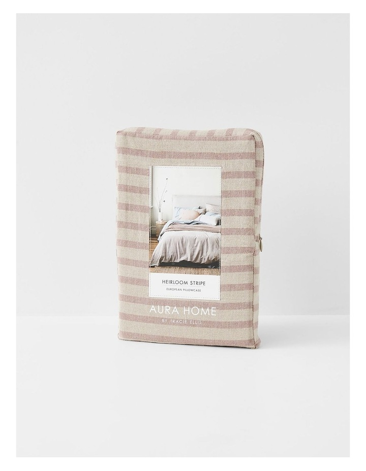 Heirloom Stripe Quilt Cover in Rosewater image 7