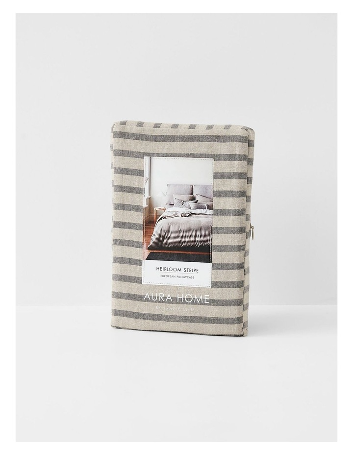 Heirloom Stripe Quilt Cover in Charcoal image 7