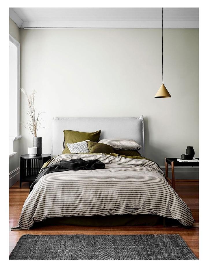 Heirloom Stripe Quilt Cover in Khaki image 1