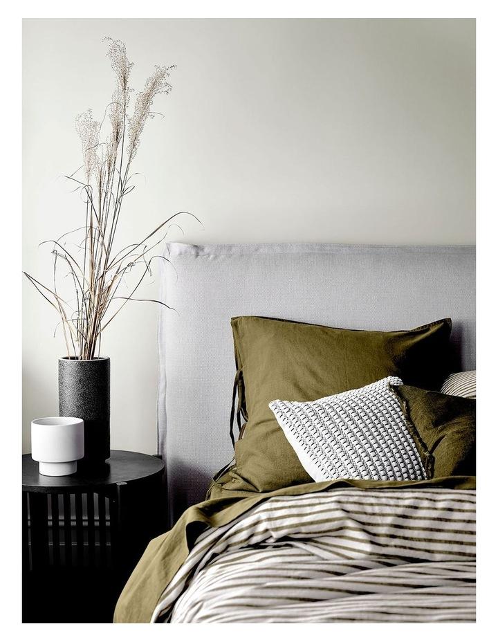 Heirloom Stripe Quilt Cover in Khaki image 2