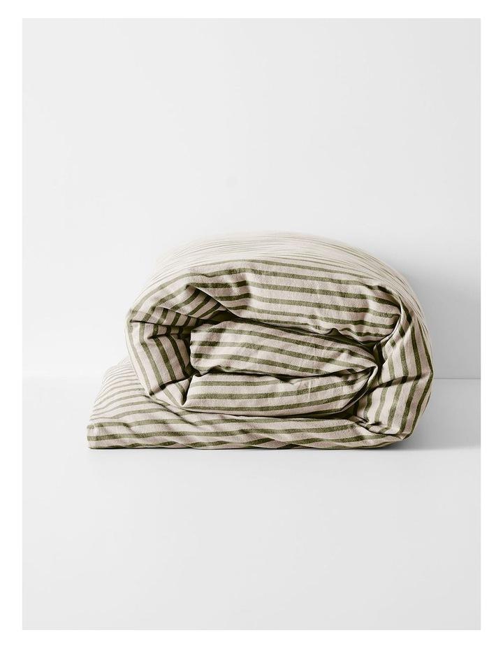 Heirloom Stripe Quilt Cover in Khaki image 3
