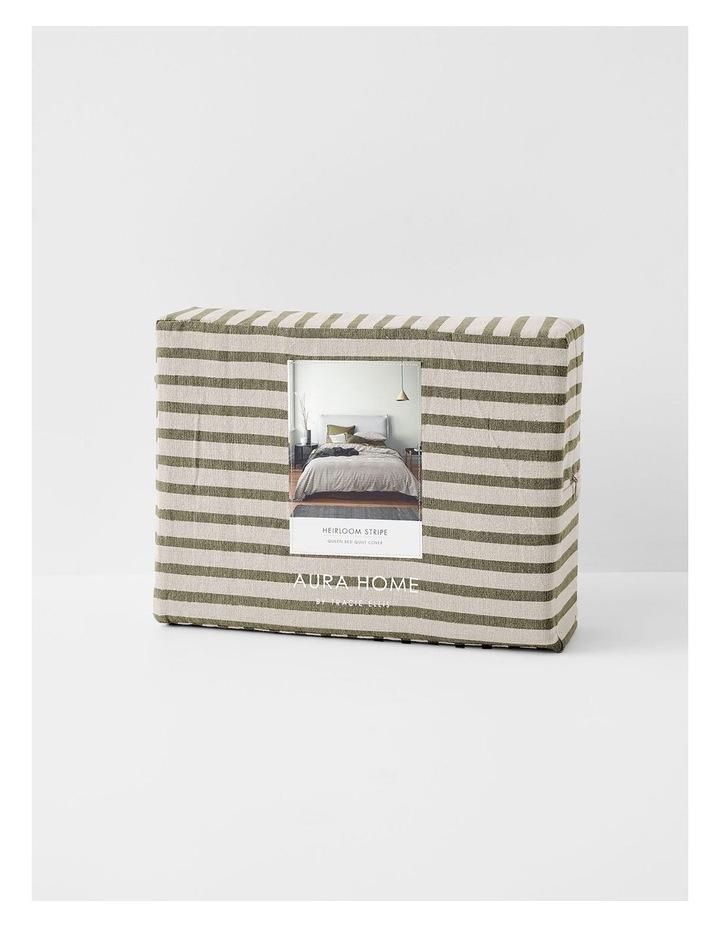 Heirloom Stripe Quilt Cover in Khaki image 4