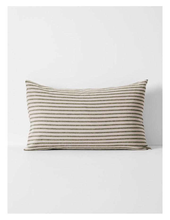 Heirloom Stripe Quilt Cover in Khaki image 5