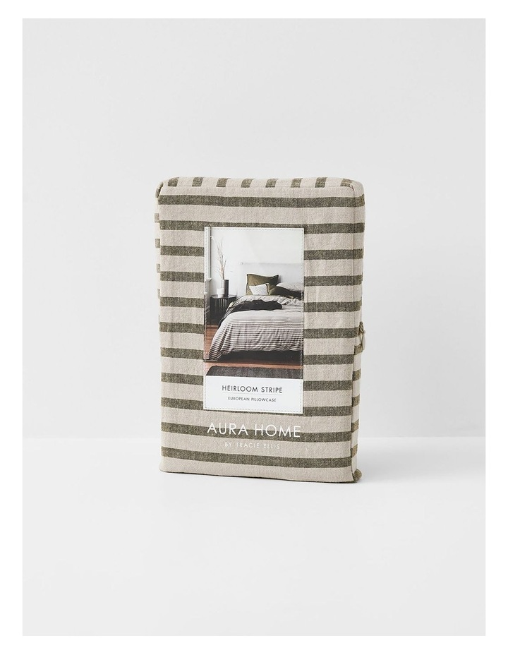 Heirloom Stripe Quilt Cover in Khaki image 7