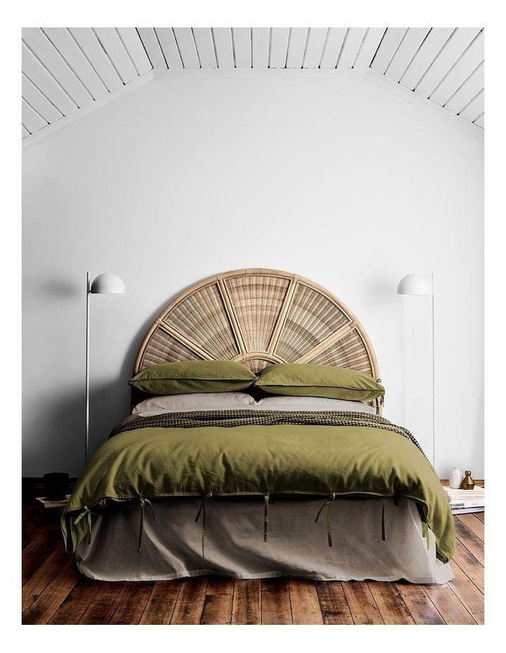 Maison Vintage Quilt Cover in Olive image 1