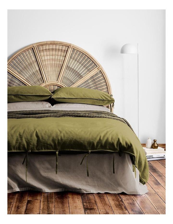 Maison Vintage Quilt Cover in Olive image 2