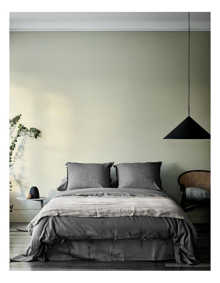 Maison Vintage Quilt Cover in Charcoal image 1