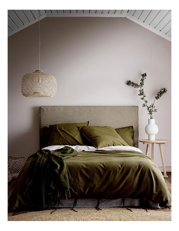 Maison Vintage Quilt Cover in Khaki image 1