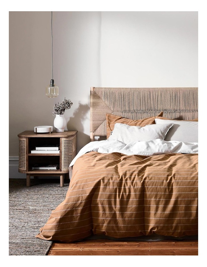 French Stripe Quilt Cover In Bronze image 1