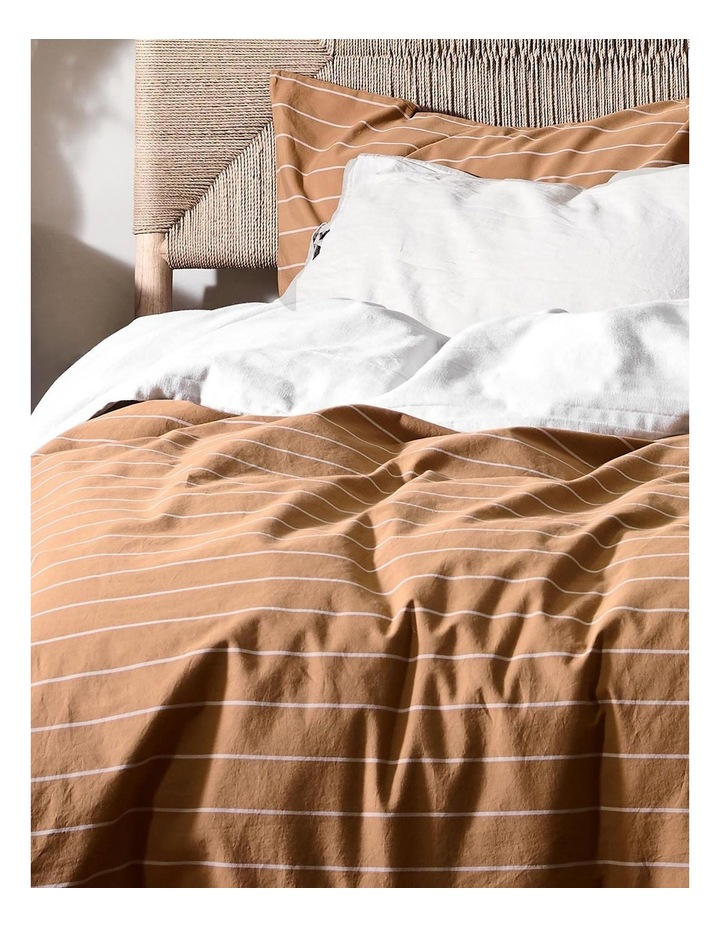 French Stripe Quilt Cover In Bronze image 2