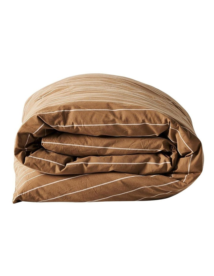 French Stripe Quilt Cover In Bronze image 3