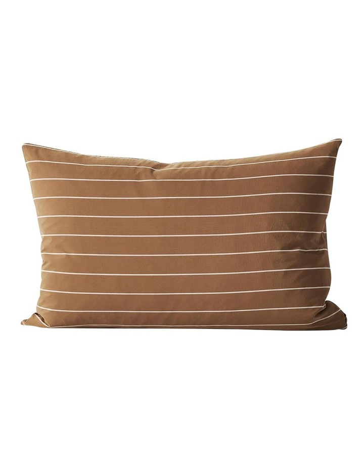 French Stripe Quilt Cover In Bronze image 5