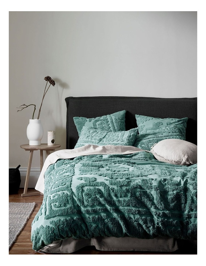 Suzani Quilt Cover in Jade image 1