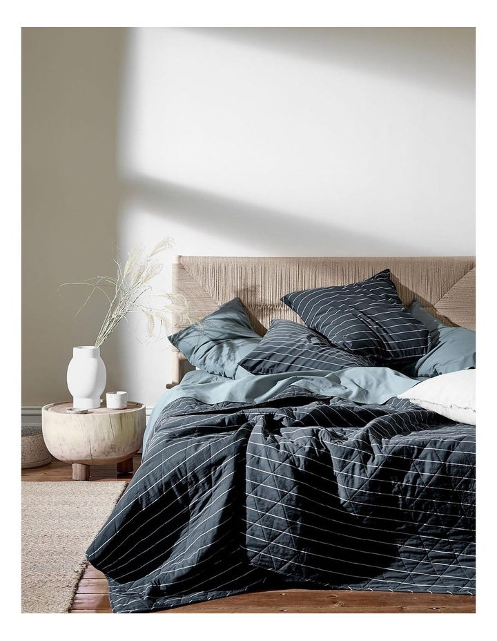 French Stripe Bed Cover in Steel image 1