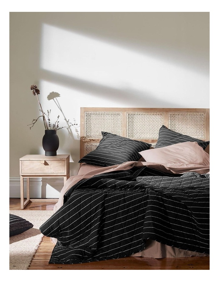French Stripe Bed Cover in Black image 1