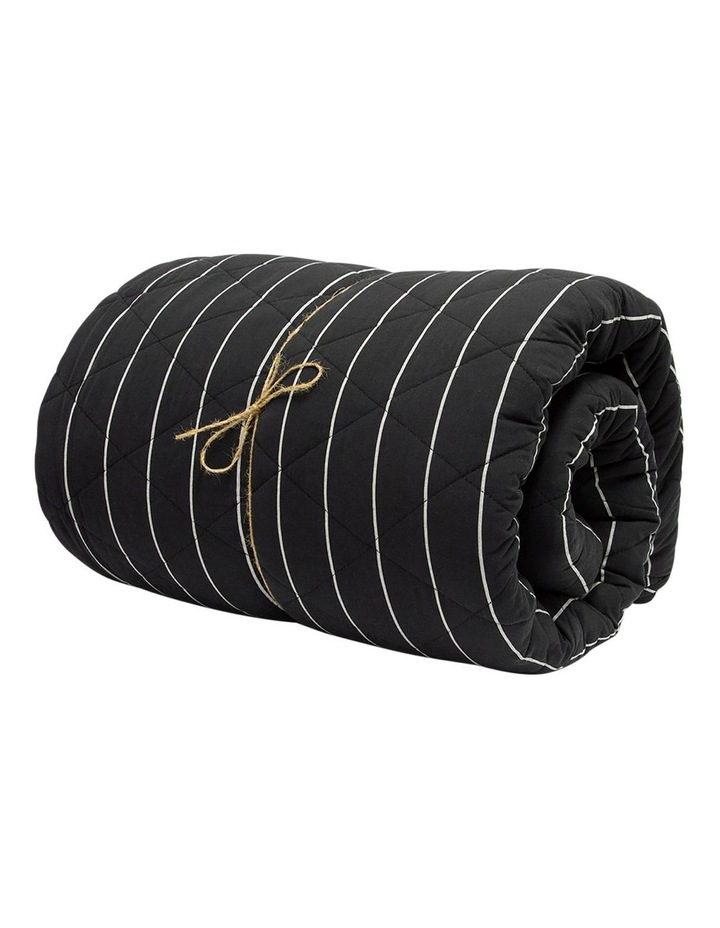French Stripe Bed Cover in Black image 2