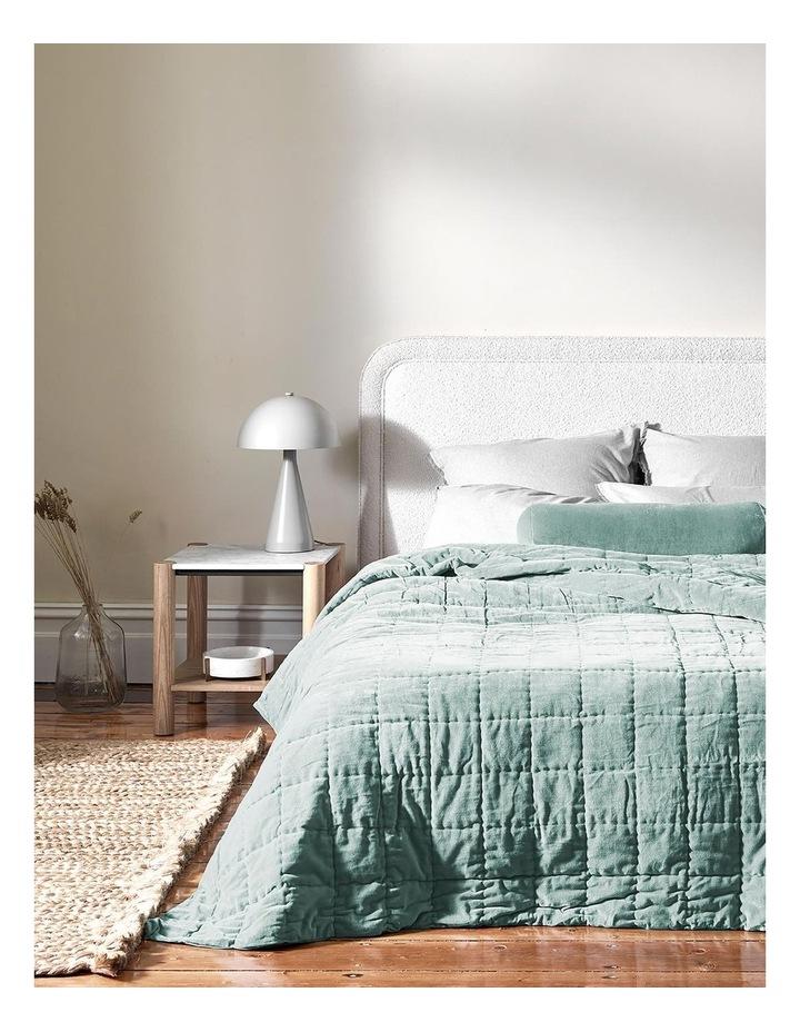 Luxury Velvet Bed Cover in Jade image 1