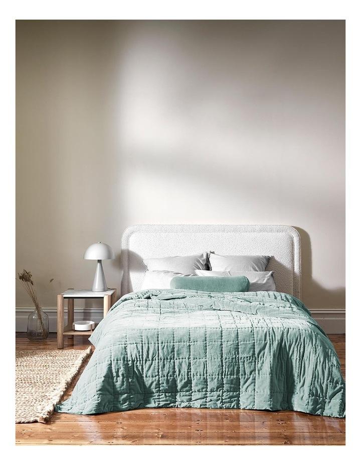 Luxury Velvet Bed Cover in Jade image 2