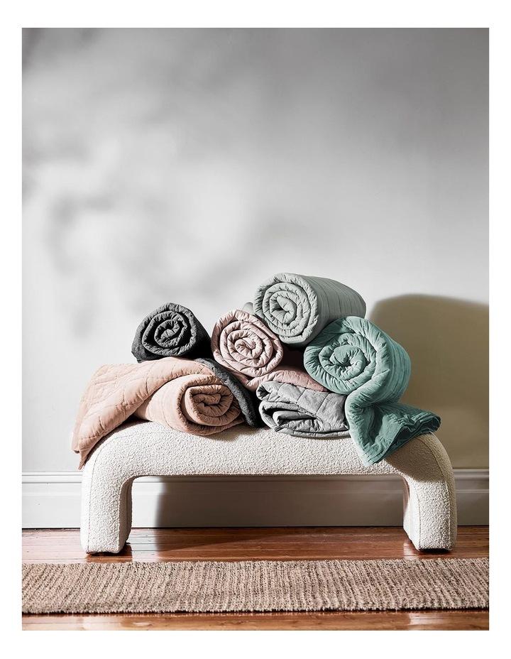 Luxury Velvet Bed Cover in Jade image 4