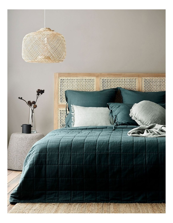 Maison Vintage Bed Cover in Indian Teal image 1