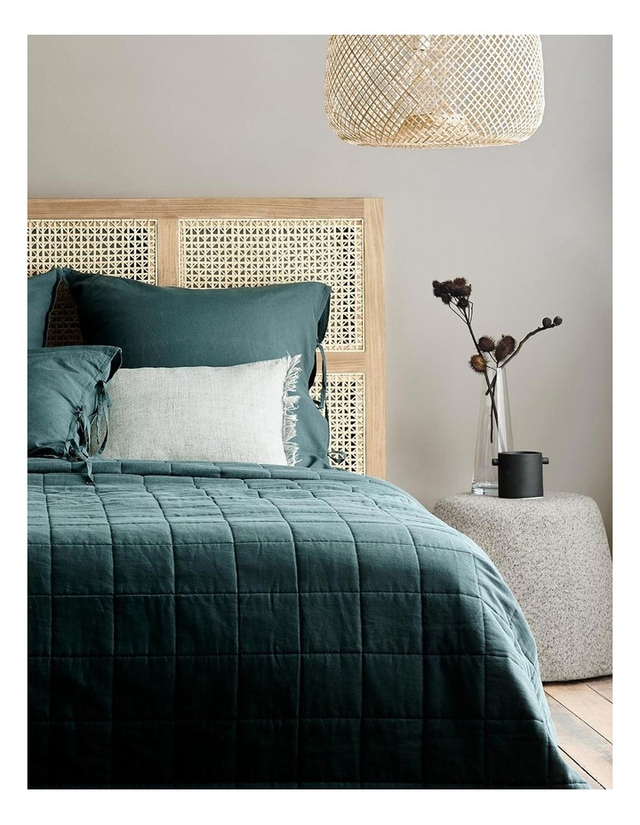 Maison Vintage Bed Cover in Indian Teal image 2