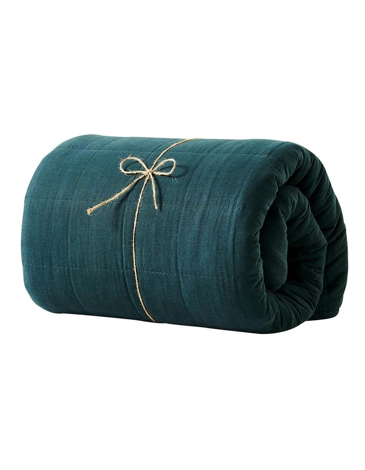 Maison Vintage Bed Cover in Indian Teal image 3