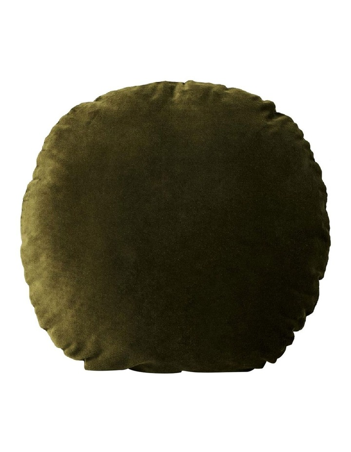 Luxury Velvet 55cm Round Cushion in Khaki image 1