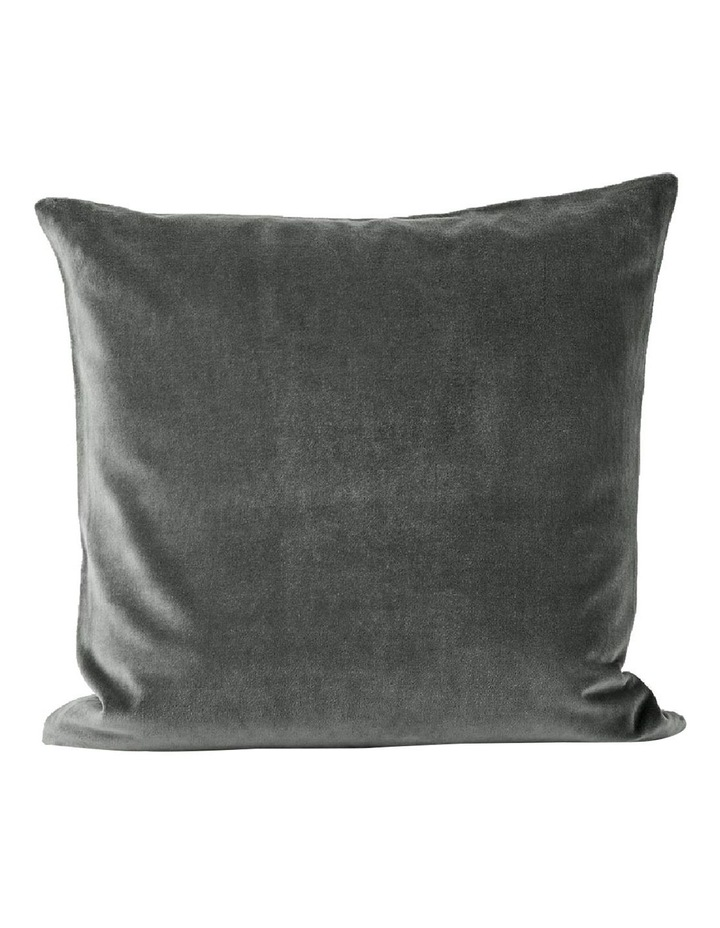 Luxury Velvet Cushion - Charcoal image 1
