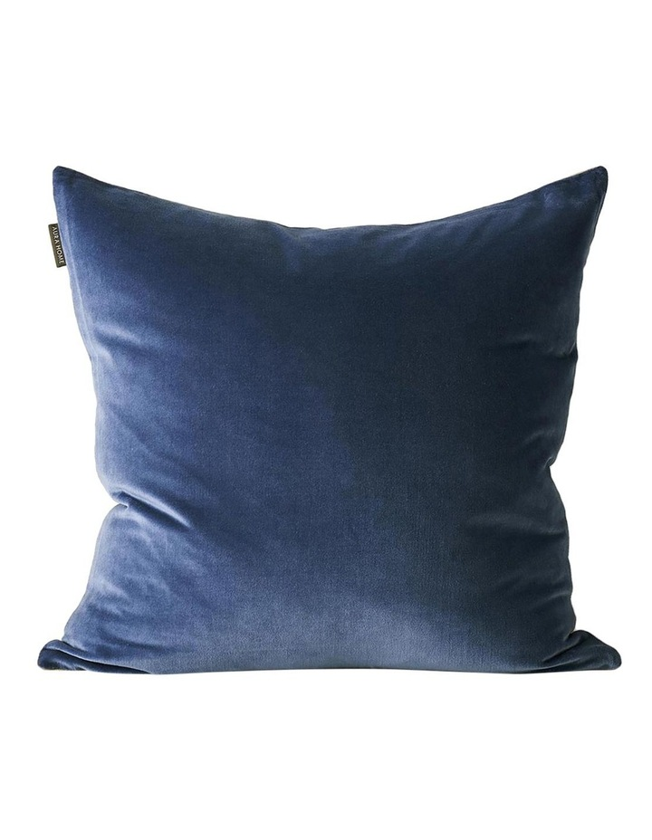 Luxury Velvet Cushion in Bijou Blue image 1