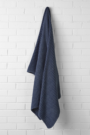 Aura by Tracie Ellis - Ribbed Throw in Denim