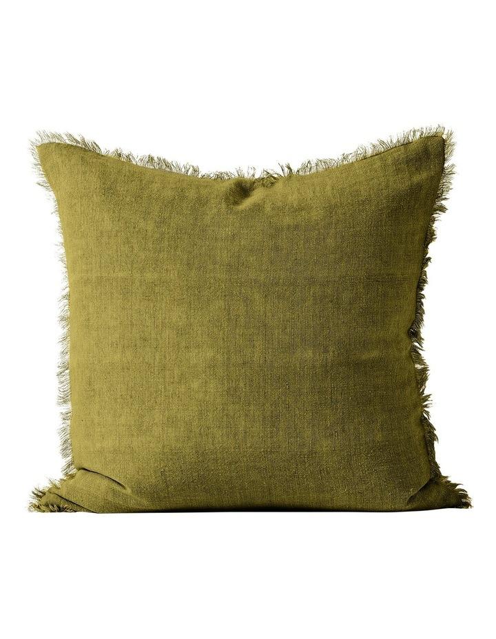 Vintage Linen Frnge Cush50x50:Olive image 1