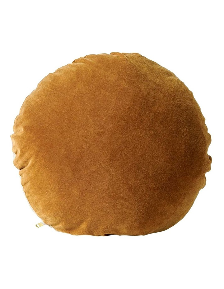 Luxury Velvet 45cm Round Cushion - Ginger image 1