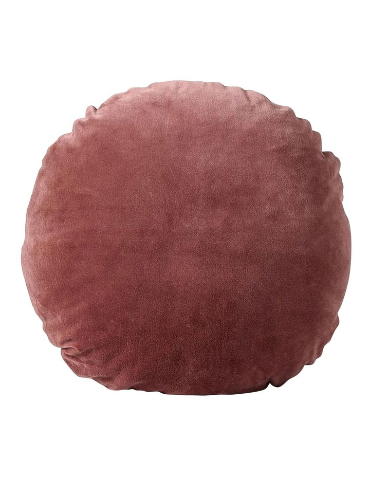 Luxury Velvet 45cm Round Cushion - Mahogany image 1