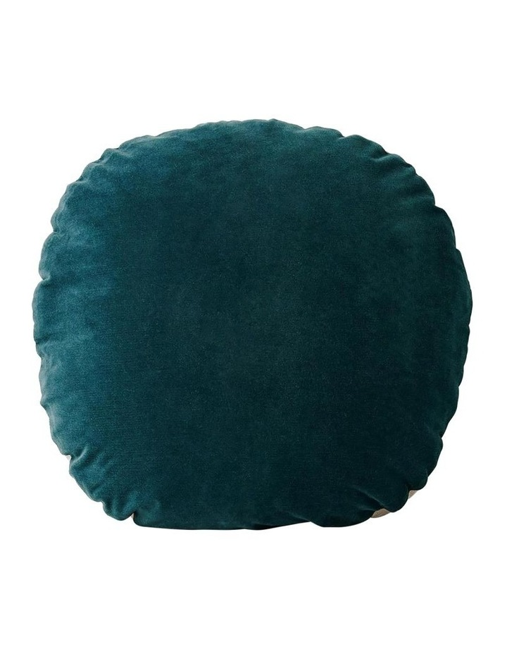 Luxury Velvet 55cm Round Cushion in Indian Teal image 1