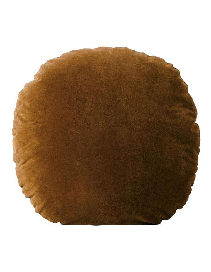 Luxury Velvet 55cm Round Cushion - Tobacco image 1
