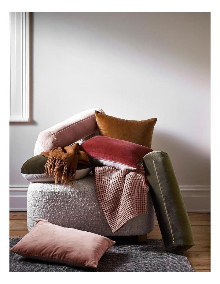 Luxury Velvet 55cm Round Cushion in Tobacco image 2