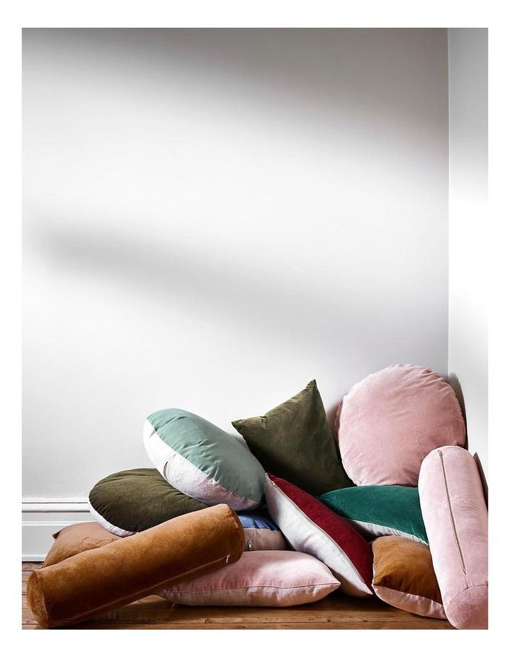 Luxury Velvet 55cm Round Cushion in Tobacco image 3
