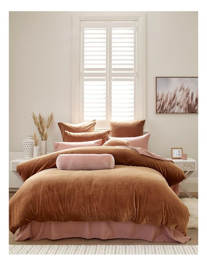 Luxury Velvet 55cm Round Cushion in Tobacco image 4