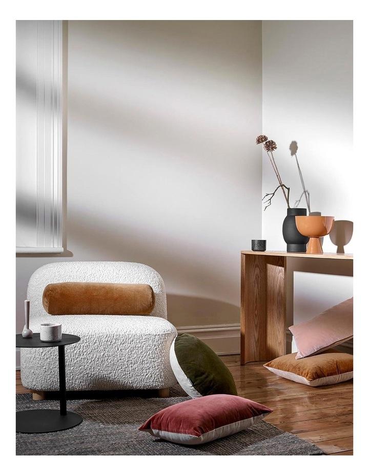 Luxury Velvet 55cm Round Cushion in Khaki image 2