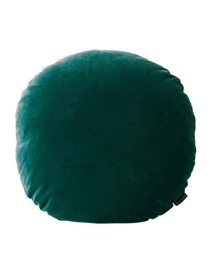 Luxury Velvet 55cm Round Cushion in Forest Night image 1