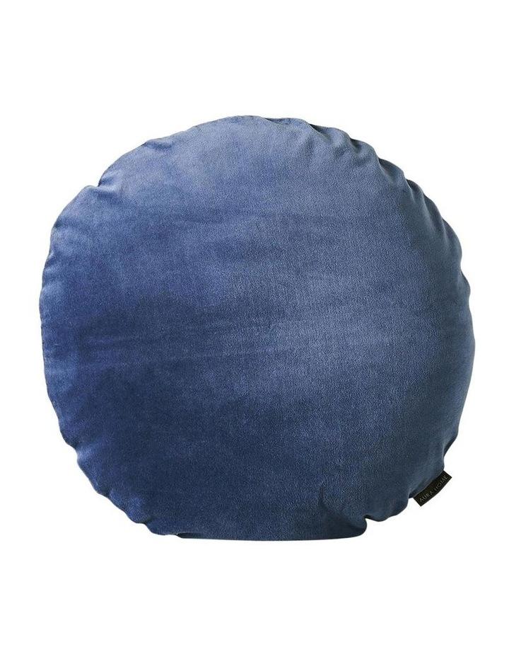 Luxury Velvet 45cm Round Cushion in Bijou Blue image 1