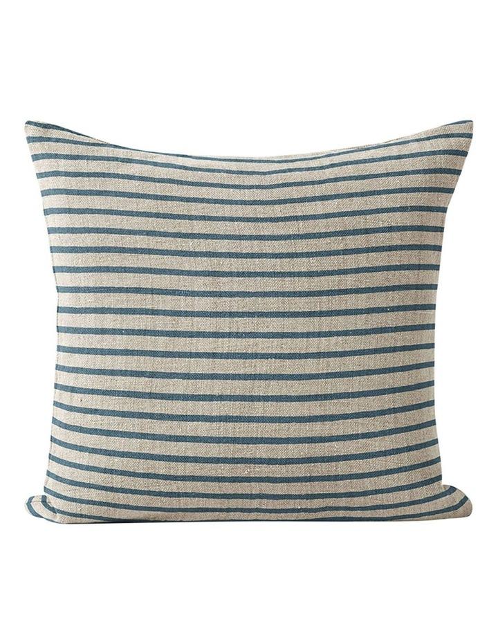 Heirloom Stripe Cushion in Indian Teal image 1