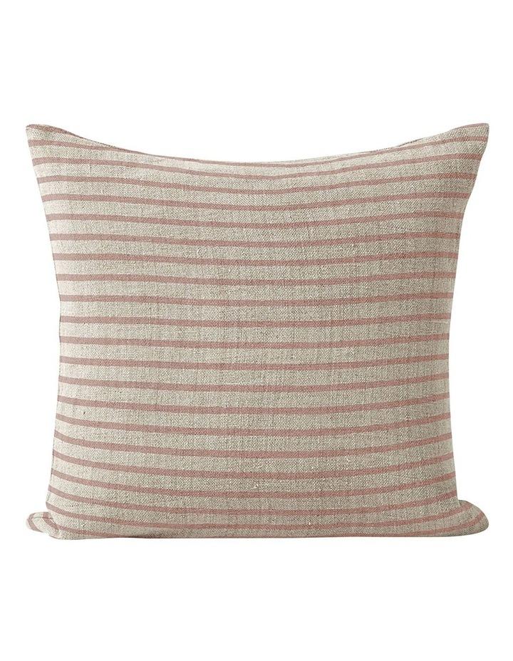 Heirloom Stripe Cushion in Rosewater image 1
