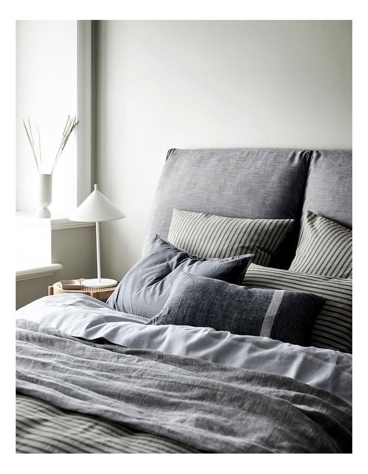 Herringbone Rectangle Cushion in Charcoal image 2