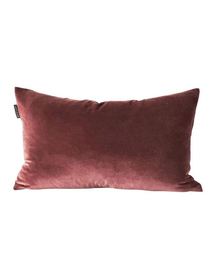 Luxury Velvet Rectangle Cushion in Mahogany image 1